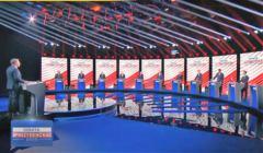 Debata prezydencka TVP - prowadzący i kandydaci