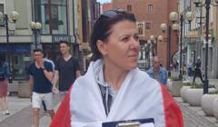 Olsztyn, Beata Jabłońska, zbiera podpisy na Trzaskowskiego