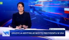 Wiadomoścu TVP o wizycie Andrzeja Dudy w USA