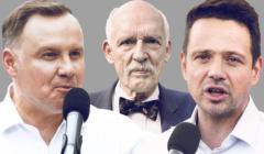 Andrzej Duda, Rafał Trzaskowski, Janusz Korwin-Mikke