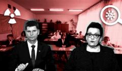 Szkoły się otworzyły, koronawirus nie ustępuje. Na ilustracji Dariusz Piontkowski i Anna Zalewska