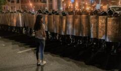 Białoruś protesty na ulicach Mińska