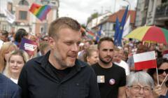 Adrian Zandberg na Marszu Równości