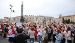 marsz kobiet w Mińsku