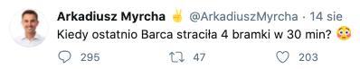 Arkadiusz Myrcha, podwyżki i Barca