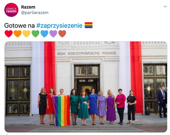 posłanki Lewicy przed zaprzysiężeniem prezydenta Andrzeja Dudy, Sejm, 6 sierpnia 2020