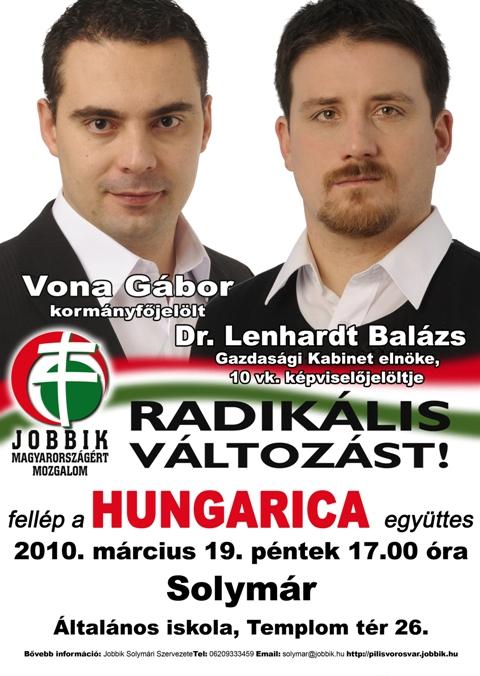 Hungarica zaprasza na spotkanie z liderem Jobbiku Gaborem Voną