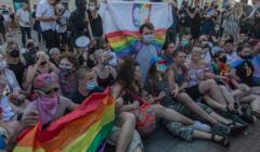 Blokada aresztowania aktywistki KPH