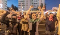 Drugi dzien protestow po wyborach prezydenckich w Bialorusi .