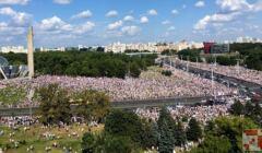 Demonstracja przeciw Łukasznce w Mińsku, 16 sierpnia 2020