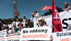 Protest w sprawie Westerplatte