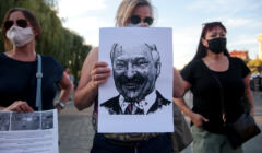Manifestacja solidarni z Bialorusia w Bydgoszczy