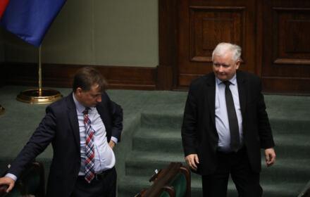 Zbigniew Ziobro i Jarosław Kaczyński w Sejmie