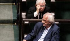 Posłowie-emeryci Jarosław Kaczyński i Ryszard Terlecki