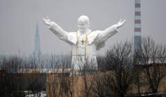 Papież gigant w Częstochowie - fot. Grzegorz Skowronek / Agencja Gazeta