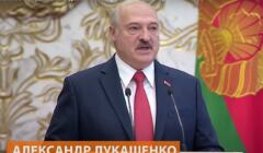 Łukaszenka przemawia na tajnej inauguracji