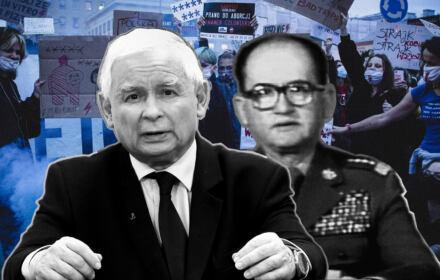 Jarosław Kaczyński i Wojciech Jaruzelski