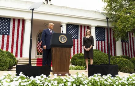 Donald Trump i Amy Coney Barrett