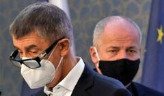 Konferencja prasowa czeskiego premiera i ministra zdrowia