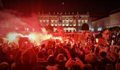 25.10.2020 - protest pod Pałacem Prezydenckim