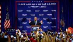 Wybory w USA, Donald Trump na wiecu w