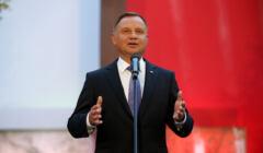 Prezydent Andrzej Duda podczas apelu poleglych na Powazkach Wojskowych w Warszawie
