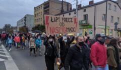 Protest przeciwko zaostrzeniu prawa aborcyjnego, Strajk Kobiet, Garwolin, 26 października 2020