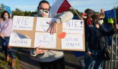 protest na granicy polsko-niemieckiej przeciwko kwarantannie
