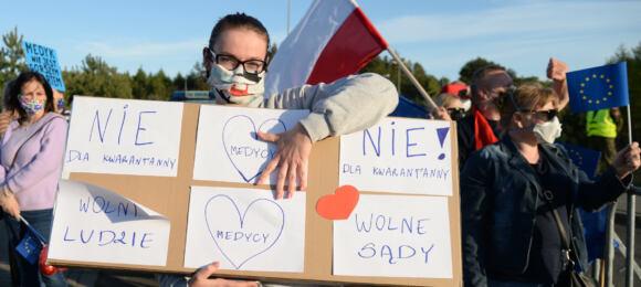 protest nagranicy polsko-niemieckiej przeciwko kwarantannie