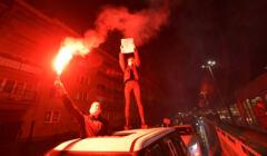 Protest we Wroclawiu przeciw zaostrzeniu prawa aborcyjnego
