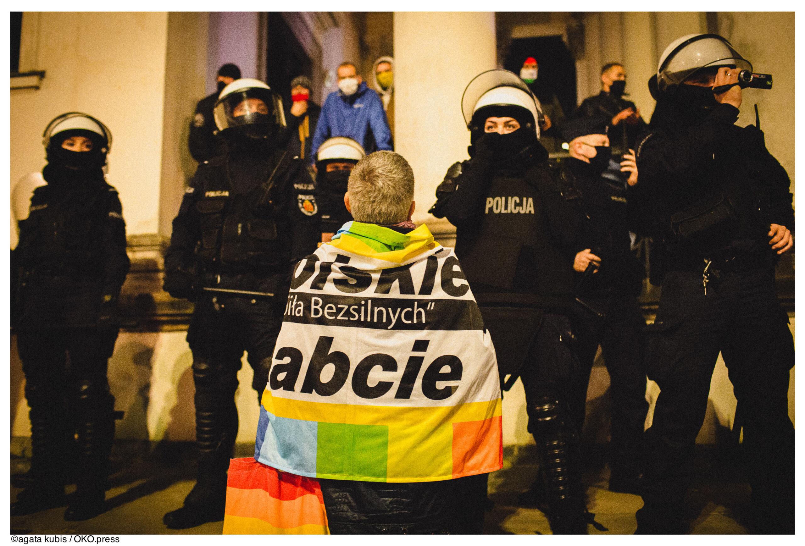 Warszawa, protest 25.10.2020