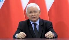 Jarosław Kaczyński wygłasza oświadczenie dotyczące protestów w Polsce