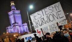 Protest przeciw zakazowi aborcji, Warszawa 24 X 2020