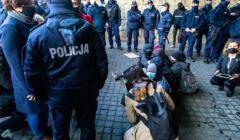 Protest pod sądem okręgowym w Warszawie