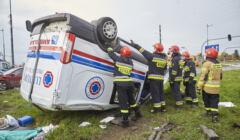 ratownicy medyczni – wypadek karetki