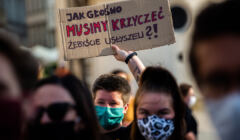 Protest kobiet w Krakowie