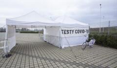 Wrocław, namiot do testów COVID
