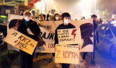 Lubaczów, protest 25.10.2020