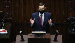 Mateusz Morawiecki na mównicy Sejmowej przemawiał o Unii Europejskiej