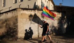 Protest w obronie praw osób LGBT