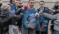 Konferencja prasowa przed planowanym Marszem Niepodleglosci w Warszawie