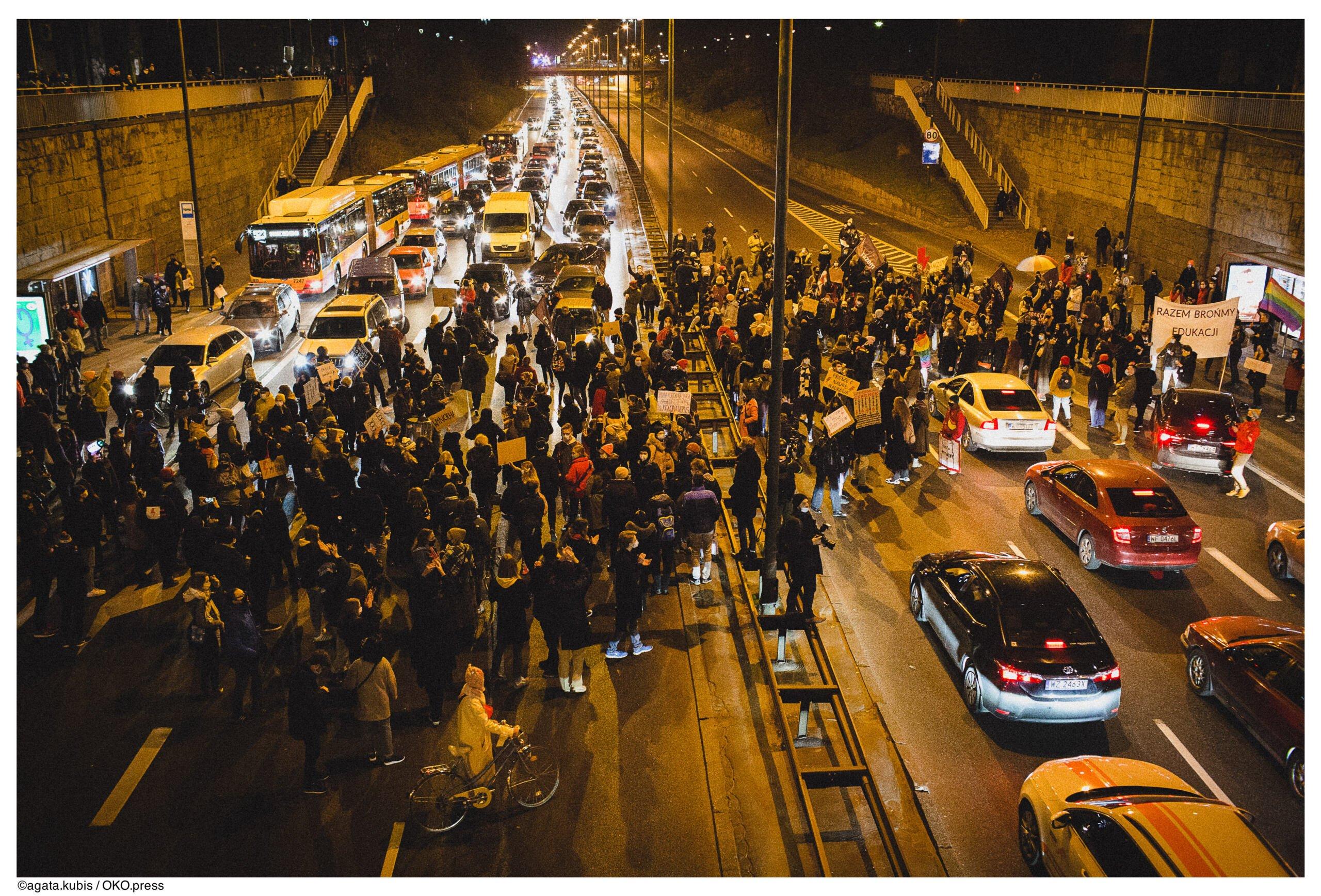 Warszawa, protest 9.11.2020