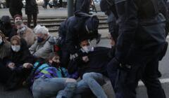 Protest solidarnosciowy pod sądem okręgowtym w Warszawie, 19 11 2020