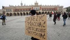 Protest branzy gastronomicznej w Krakowie