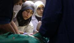 Dr Amani Ballour podczas pracy w Syrii
