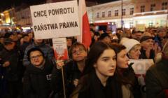 Protest przed Sadem Okregowym w Lublinie