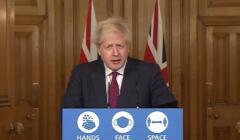 premier Wielkiej Brytanii Boris Johnson informuje, że istnieje nowy szczep koronawirusa
