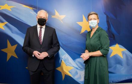 Jarosław Gowin i Margrethe Vestager