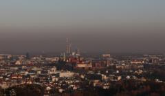 06.11.2018 Krakow . Smog nad miastem . Widok z Kopca Kosciuszki .