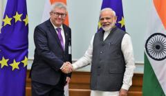 Ryszard Czarnecki i premier Indii Narendra Modi, 2019 r.